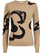 Burberry Brit Flower Intarsia Wool Cashmere Sweater - Lyst