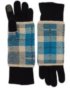 Portolano Plaid Layered Gloves - Lyst