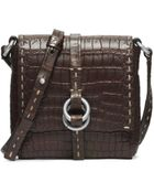Michael Kors Julie Crocodile Crossbody - Lyst