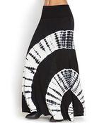Forever 21 Tie-Dye Maxi Skirt - Lyst