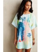 Claire Desjardins Painted Silk Tunic Dress - Lyst