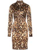 Roberto Cavalli Silk Dress - Lyst