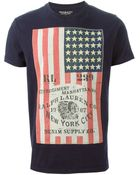 Denim & Supply Ralph Lauren Flag Print T-Shirt - Lyst