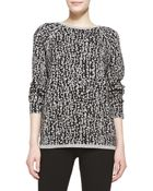Halston Heritage Long-Sleeve Jacquard Sweater - Lyst