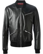 Dolce & Gabbana Leather Jacket - Lyst