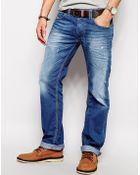 Diesel Jeans Larkee 830W Straight Fit Mid Distress - Lyst