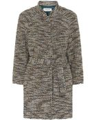 Paul By Paul Smith Textured Tweed Cocoon Coat - Lyst