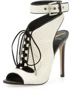 B Brian Atwood Lodosa Lace-Up Snake Sandal - Lyst