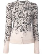 Dolce & Gabbana Floral Lace Print Cardigan - Lyst