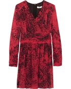 Balmain Animal-Print Silk-Georgette Mini Dress - Lyst