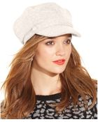 Nine West Boucle Newsboy Cap With Buttons - Lyst