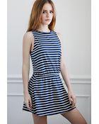 Forever 21 Striped Drop-Waist Dress - Lyst