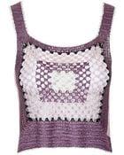 Topshop Lurex Crochet Crop Top - Lyst