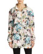 Sam Edelman Floral Print Hooded Jacket - Lyst