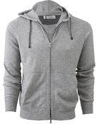 Brunello Cucinelli Front Zip Hooded Sweater - Lyst