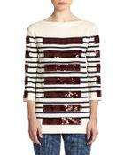 Marc Jacobs Sequin Stripe Top - Lyst