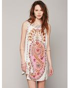 Free People Womens Fp New Romantics Gujakat Goddess Dress - Lyst