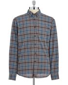 Strellson Plaid Button-Down Shirt - Lyst