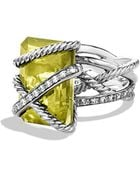 David Yurman Cable Wrap Ring With Diamonds - Lyst