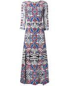 Sea Abstract Print Maxi Dress - Lyst
