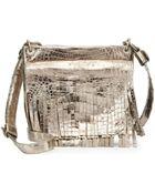 Nancy Gonzalez Metallic Crocodile Fringe Crossbody Bag - Lyst