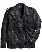 H&M Oversized Biker Jacket - Lyst