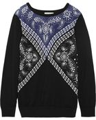 Sandro Sam Silk And Cotton And Wool-Blend Sweater - Lyst