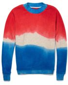 The Elder Statesman Dip-Dyed Cashmere Sweater - Lyst