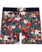 River Island Orange Floral Print Tokyo Laundry Swim Trunks - Lyst