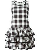 Dolce & Gabbana Check Ruffled Dress - Lyst