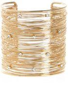 River Island Gold Tone Multi Wire Encrusted Cuff Bracelet - Lyst