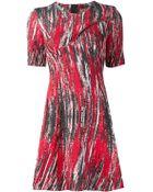 Kenzo Brush Stroke Print Dress - Lyst