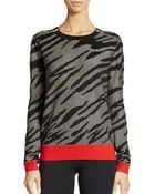 French Connection Zebra Print Sweater - Lyst