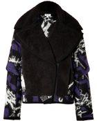 Kenzo Wool-Blend Biker Jacket - Lyst