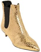 Giuseppe Zanotti 35Mm Python Printed Leather Ankle Boots - Lyst