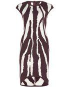 Fendi Intarsia Stretch-Knit Dress - Lyst
