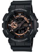 G-Shock Men'S Analog Digital Black Resin Strap Watch 51X55Mm Ga110Rg-1A - Lyst