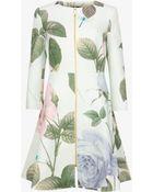 Ted Baker Rafell Rose Print Coat - Lyst