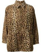 Yves Saint Laurent Vintage Faux Fur Coat - Lyst