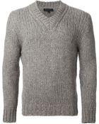Ann Demeulemeester Knitted Sweater - Lyst