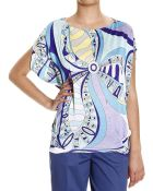 Emilio Pucci Top Half Sleeve Poncho Jersey Print Flower Power - Lyst