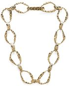 House Of Harlow Textured Link Necklace - Lyst