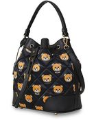 Moschino Printed Quilted Nylon Bucket Bag - Color - Lyst