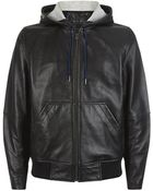 Marc By Marc Jacobs Leather Hooded Jacket - Lyst