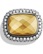 David Yurman Waverly Ring With Gold Dome & Diamonds - Lyst