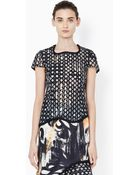 3.1 Phillip Lim Crop Shirt With Silk Covered Cord And Freeform Hem - Lyst