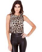 Akira Leopard Crop Top - Lyst