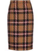 Miu Miu Tartan Pencil Skirt - Lyst