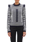 Maison Margiela Mixed-Knit Sweater - Lyst