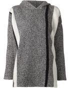 T By Alexander Wang Striped Hooded Sweater - Lyst